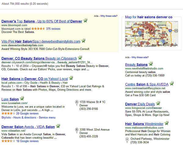 Local Search: Denver Salons