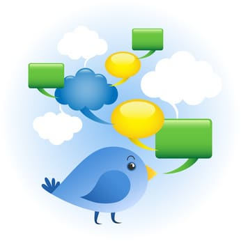 Twitter Bird, Tweeting, Twitter