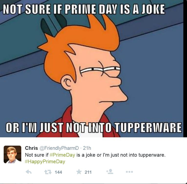 Prime Day Joke, Amazon Prime Day