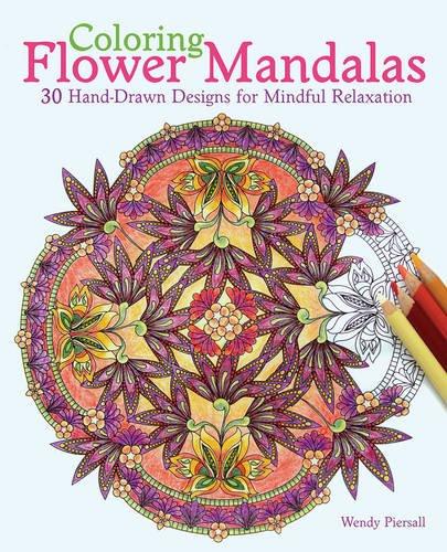 Coloring Flower Mandalas Adult Coloring Book