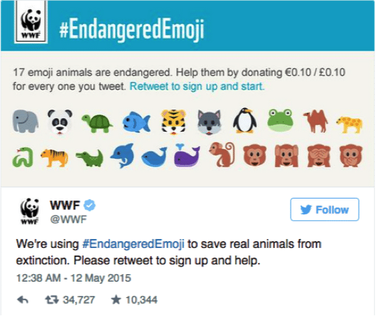 #endangeredemoji, #WWF
