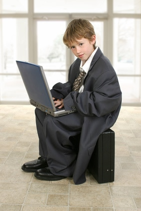 Hire Neighbor Kid for Business, Little Business Man