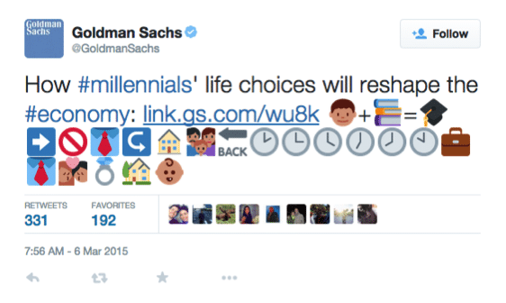#emoji, #goldman